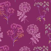 Inprint Chelsea Physic Garden - 4047 - Cowslip - Purple - 8950 M60 - Cotton Fabric